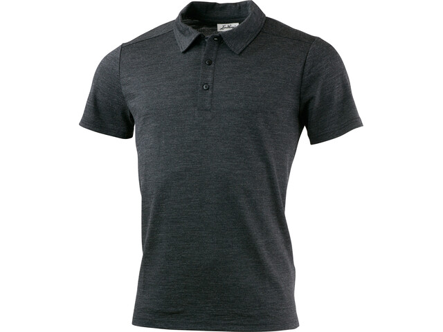 Lundhags Merino Light Polo Tee Men Grey Melange